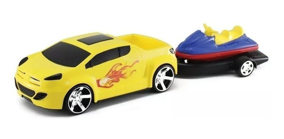 Kit 08 Unidades Carrinho Pick Up Fire Super Jet -orange Toys