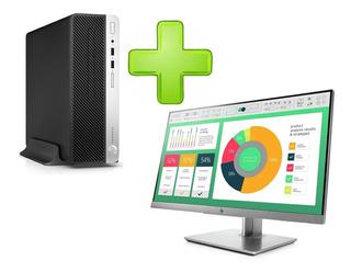 Pc Hp Prodesk 400 G6 I5-9500 8gb 1tb + Monitor E223 W10 Pro