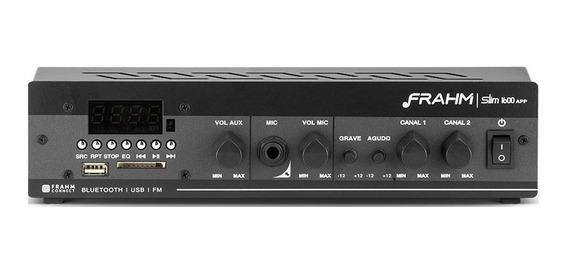 Amplificador Receiver Som Ambiente Frahm Slim 1600 Ap Ap0375