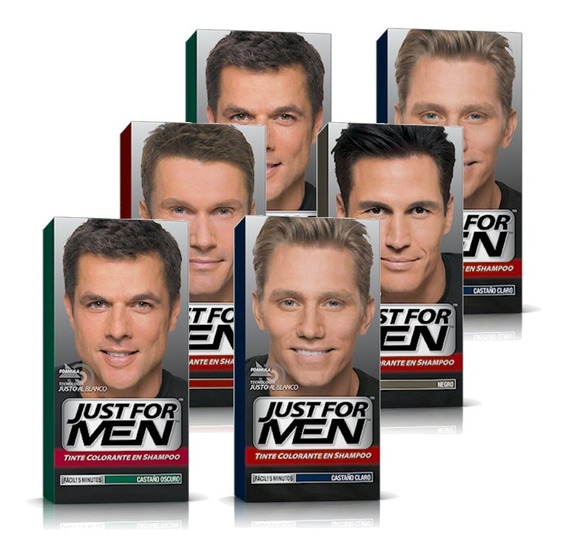 Just For Men Colorante En Shampoo Cubre Canas Pack 6un