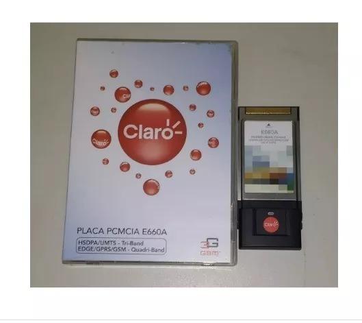 Modem Placa Pcmcia E660a 3g Huawei Claro Vitrine