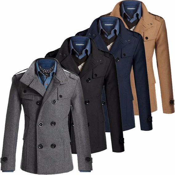 Sacos Abrigos Winter Military Slim Fit Coat Moda Envio Grati