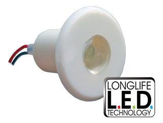 Luz De Cortesía Plástica Blanca 1 Led Luz Blanca (ø 28mm)