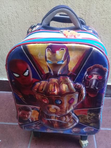 Mochila Carro Y Lonchera Puño De Thanos Advengers 5 Ruedas