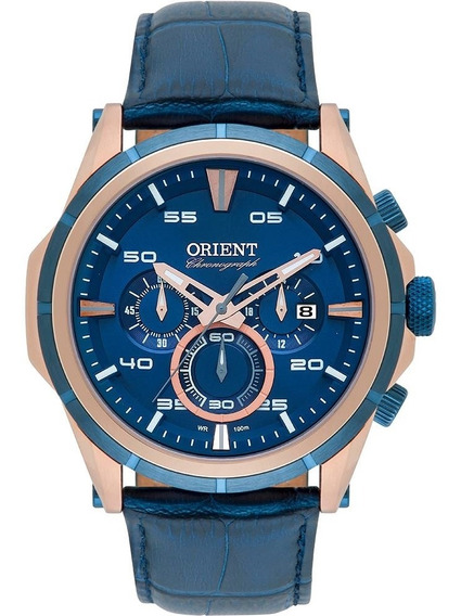 Relógio Masculino Orient Analógico Mrscc011 D2dx -rosê/azul