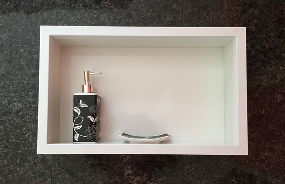 2 X Nicho Em Porcelanato P/ Banheiro Box Cuba 50x30x10 Cm