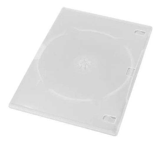 Capa / Caixinha / Estojo Dvd Box Slim Transparente 50 Uni.
