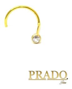 Piercing De Nariz Em Ouro 18k Com Brilhante + Nota Fiscal