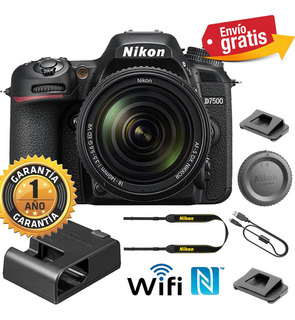 Camara Profesional Nikon D7500 Lente 18-140 Wifi 4k Uhd