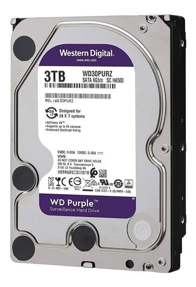 Disco Rígido 3tb Sata3 Western Digital Purple Wd30purz