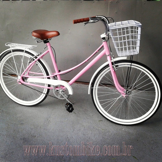 Bicicleta Ceci Vintage Retrô Rose Estilo Caloi
