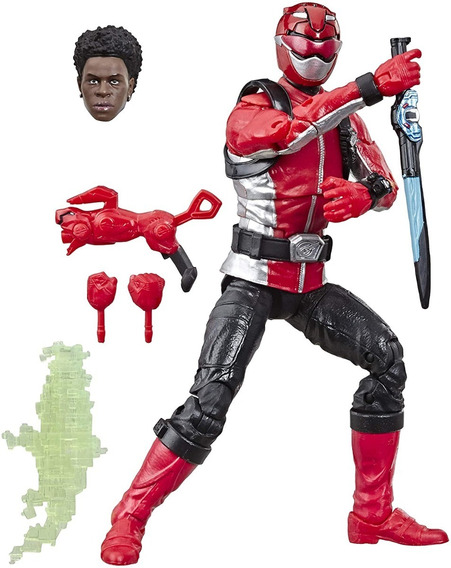 Boneco Red Beast Morphers Lightning Collection Power Rangers