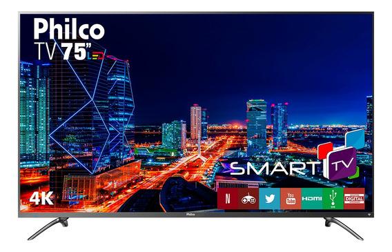 Smart Tv Philco 4k Led 75 Ptv75e30dswnt Netflix Bivolt