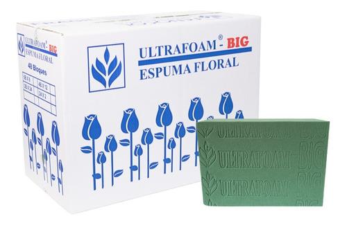 Espuma Floral Ultrafoam Big 6b X 8 - Caja Por 8 Unidades.