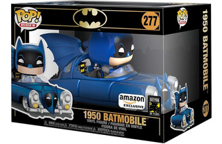 Funko Pop! Rides Batman #277. 1950 Batmobile Metalic Blue