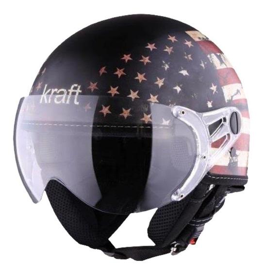 Capacete Aberto Moto Kraft Plus Usa