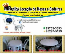 Locação Aluguel Mesas Cadeiras Capas Toalhas Guarulhos Arujá