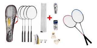 Kit Badminton Pro 4 Raquetes + Kit 2 Raquetes