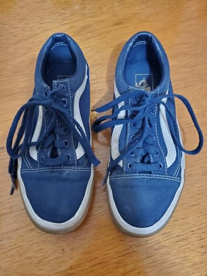 Tênis Vans Azul 35 Usado Original