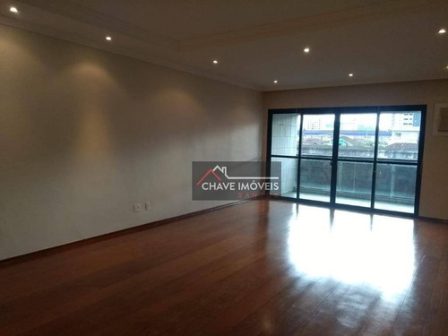 Apartamento Com 4 Dormitórios, 270 M² - Venda Por R$ 1.300.000,00 Ou Aluguel Por R$ 7.000,00/mês - Boqueirão - Santos/sp - Ap2550