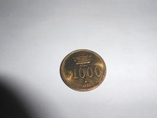 Moneda 1000 Pesos Atlan Prueba
