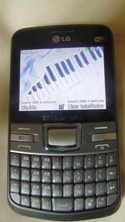 Celular Lg Dual Chip Desbloqueado Mod.c199 Cinza - Impecável
