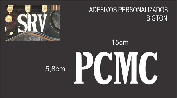Adesivo Nome ( Pcmc ) 15cm X 5,8cm Branco Recorte