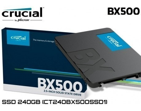 Hd Ssd Crucial 240gb 6gb/s 2,5pol Sata3 Pc Notebook