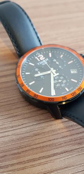 Relógio Original Tissot Quickster Preto. Caixa E Nota Fiscal