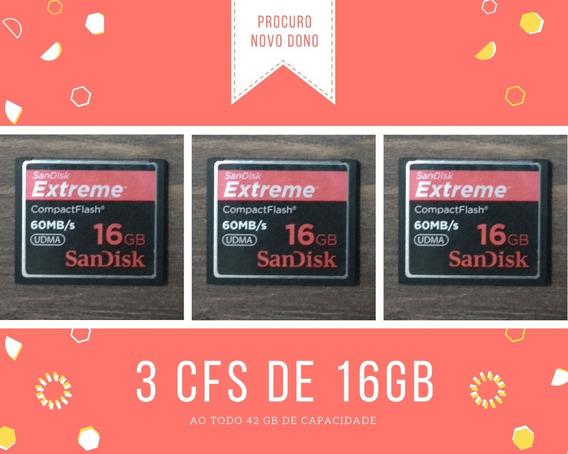 Oportunidade - 3 Cartões Cf 16gb