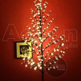 Árvore Abajur Cerejeira 280 Leds 1,80m Branco Quente Bivolt