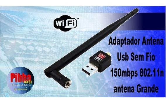 Adaptador Usb Rede Sem Fio 150mbps 802.11n - Antena Grande