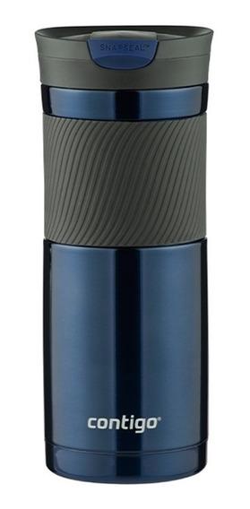 Termo Acero Inoxidable Sistema Byron Azul 591 Ml Contigo