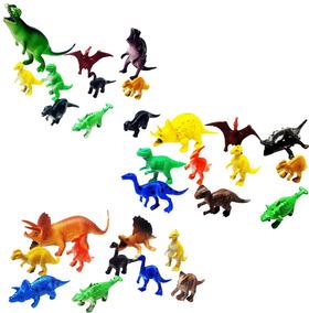 50 Peças Dinossauro De Borracha Miniatura Pequena Festa