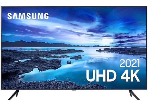 Imagem 1 de 4 de Smart Tv Samsung 70 Uhd 4k Un70au7700gxzd Processador Crysta