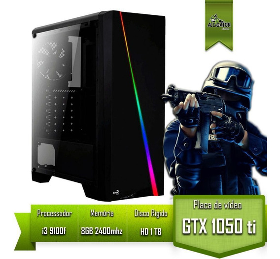 Pc Gamer Intel I3 9100f Gtx 1050 Ti 4gb Memoria 8gb Hd 1tb