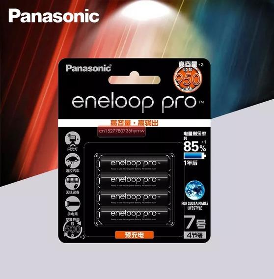 4 Pilhas Recaregavel Aaa Profissional Panasonic Kit Original