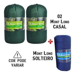 Camping Colchão Colchonete Mont Long 02 Casal + Solteiro