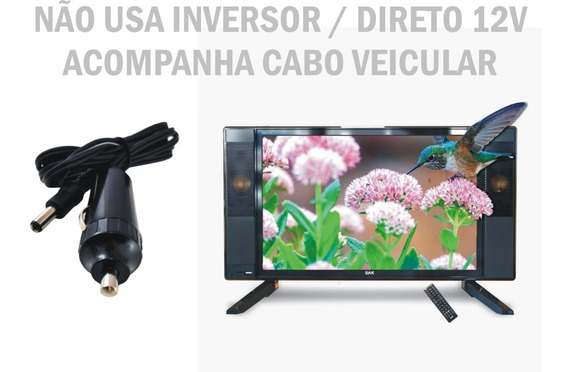 Tv Digital 19 Led 12 Volts Usb Hdmi Trailer Caminhão Ônibus