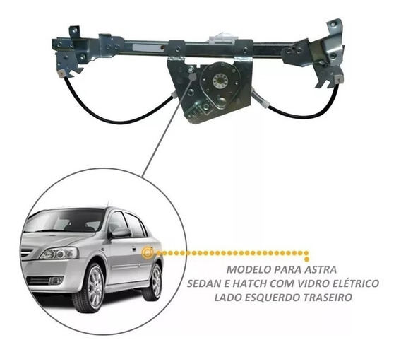 Kit Astra Máq De Vidro / Tapete Chevrolet