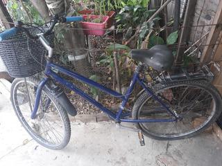 Bicicleta Rodado 26 Con Cambios Y Canasto Y Portaequipaje.