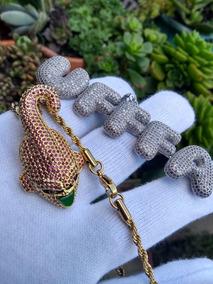 Majin Boo Super Banhado A Ouro Com Corrente Corda 60cm