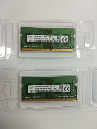 Imagem 1 de 3 de Memória 4gb Notebook Hynix Ddr4 2666 Mhz Original Dell G3