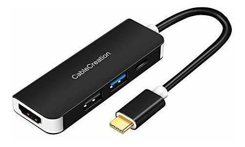Imagen 1 de 7 de Usb C Hub, Cablecreation Usb-c A Hdmi Adaptador Ultra Delgad
