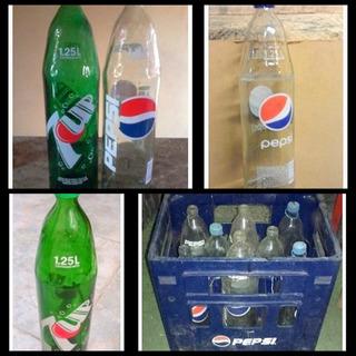 11 Envases Línea Pepsi 1,25 (vidrio) + 1 Esqueleto (cajón)