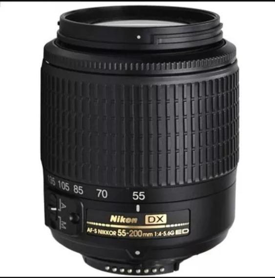 Lente Objetiva Nikon Af-s 55-200mm - F/4-5.6g Ed Dx