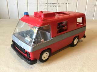 Ambulancia Bomberos Playmobil Retro