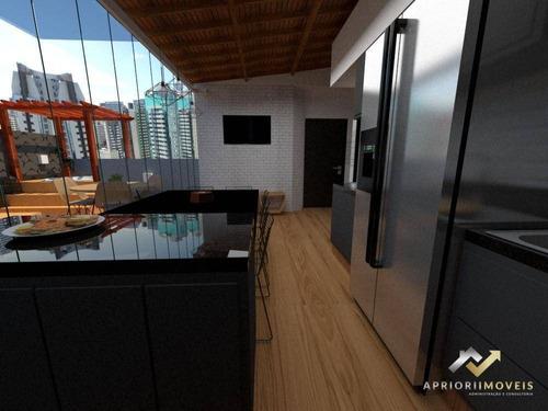 Cobertura Com 2 Dormitórios À Venda, 100 M² Por R$ 435.000 - Vila Bastos - Santo André/sp - Co0437