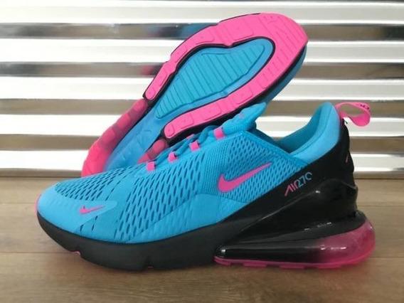 Tenis Nike Air Max 270 Azul #26.5 Cm Envio Gratis