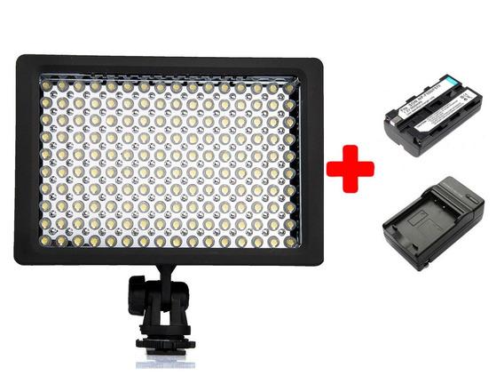 Iluminador Led 160 Wansen + Bateria + Caregador Nikon Canon